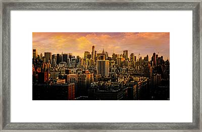 Gotham Sunset Framed Print by Chris Lord