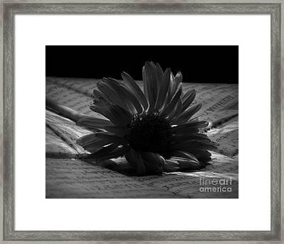 Gothic Birthday Flower Bw Framed Print by Chalet Roome-Rigdon