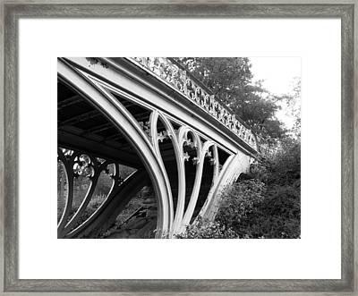 Gothic Bridge Design Framed Print