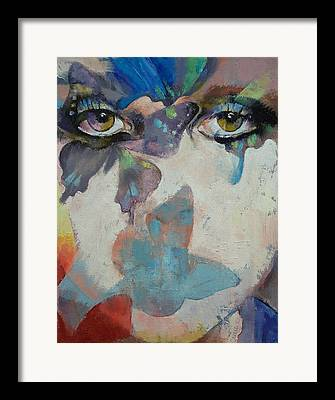 Portrait Female Oil Framed Prints