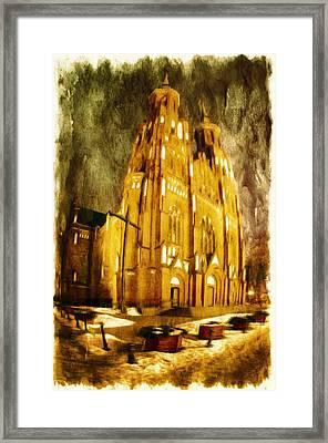 Gothic Cathedral Framed Print by Jaroslaw Grudzinski