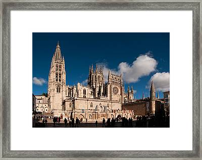 Gothic Cathedral Of Burgos Framed Print