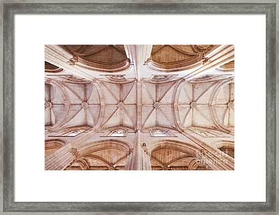 Gothic Ceiling Of The Batalha Monastery Church Framed Print by Jose Elias - Sofia Pereira