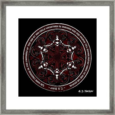 Gothic Celtic Mermaids Framed Print