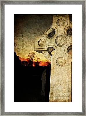 Gothic Cross Framed Print by Paul Ward