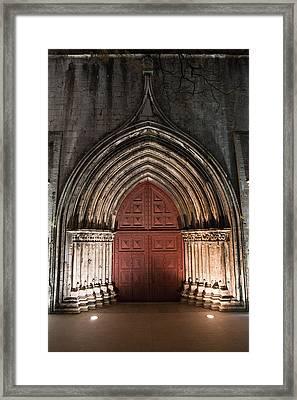 Gothic Portal To The Igreja Do Carmo In Lisbon Framed Print by Artur Bogacki