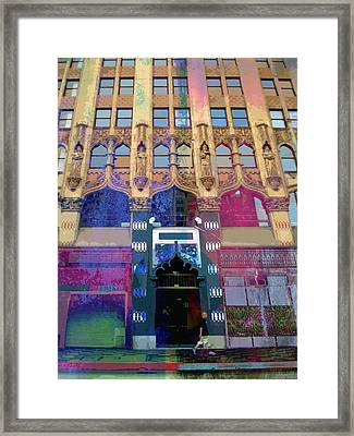 Framed Print featuring the photograph Gothic Entrance by John Fish