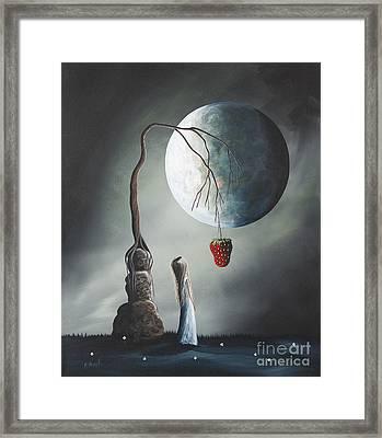 Gothic Fantasy Art By Shawna Erback So Tempting Framed Print by Shawna Erback