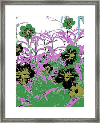 Gothic Garden Green Framed Print