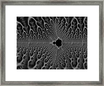 Gothic Mandelbrot Framed Print by Hakon Soreide