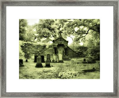 Gothic Mausoleum Framed Print by Gothicrow Images