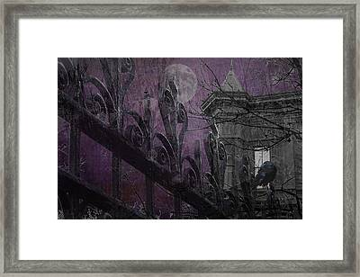 Gothic Moonlight Framed Print by Suzanne Powers