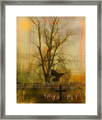 Gothic Nature Collage Framed Print