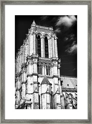 Gothic Notre Dame Framed Print by John Rizzuto