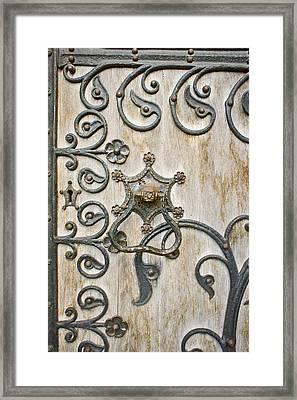 Gothic Pattern Framed Print