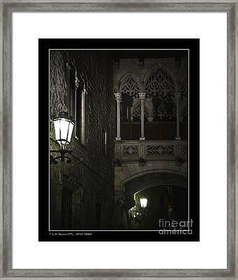 Gothic Shadows Framed Print by Pedro L Gili