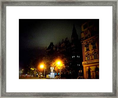Framed Print featuring the photograph Gothic Skyline by Salman Ravish