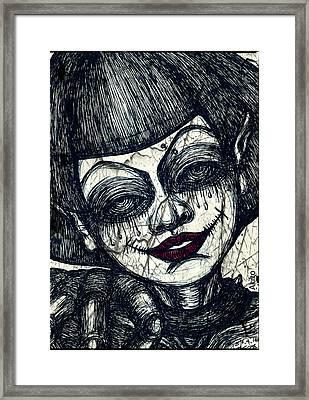 Gothic Smile Framed Print by Akiko Okabe