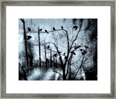 Gothic Snow Storm Framed Print by Gothicrow Images