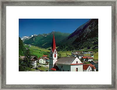 Gothic Spikes In An Austrian Village Framed Print by Wernher Krutein