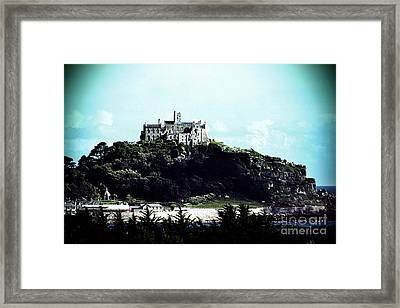 Gothic St Michael's Mount Cornwall Framed Print