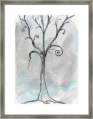 Gothic Tree Framed Print by Jacquie Gouveia