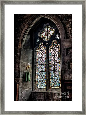 Gothic Window Framed Print by Adrian Evans