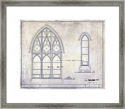 Gothic Window Detail Framed Print by Jon Neidert