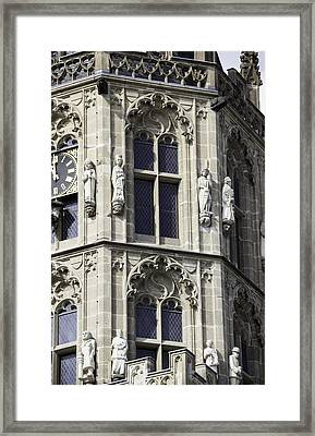 Gothic Windows On Tower Of Rathaus Cologne Germany Framed Print by Teresa Mucha