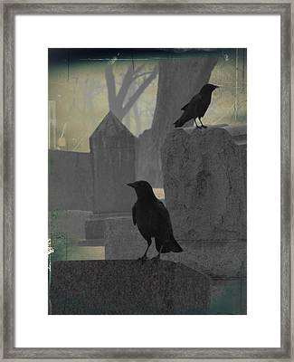 Gothic Winter Blackbirds Framed Print by Gothicrow Images