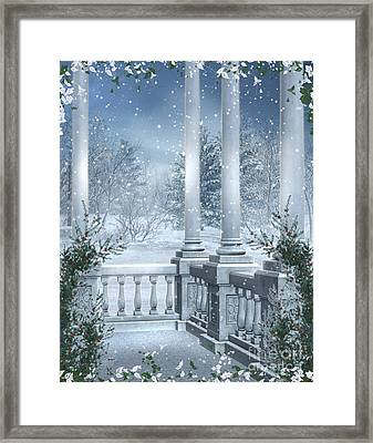 Gothic Winter Framed Print by Boon Mee