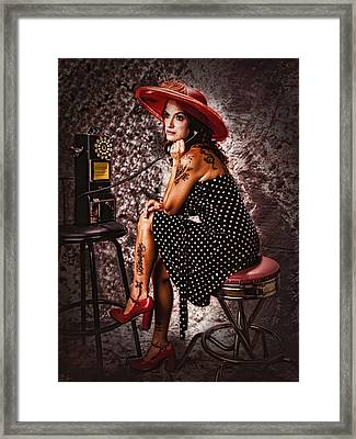 Framed Print featuring the photograph Gotta Dime I Can Use ... by Chuck Caramella