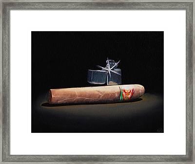 Gotta Light Framed Print by Nicko Gutierrez