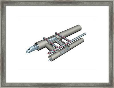 Gotthard Base Tunnel, Artwork Framed Print by Science Photo Library