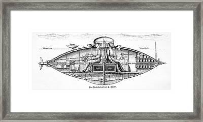 Goubet Submarine Framed Print