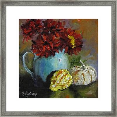 Framed Print featuring the painting Gourd Painting Iv by Cheri Wollenberg