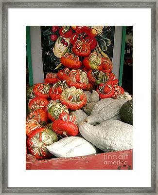 Framed Print featuring the photograph Gourds Piled High by Joyce Gebauer
