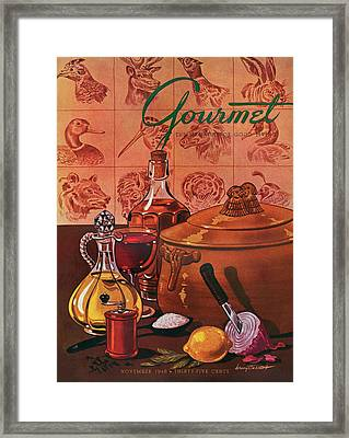 Gourmet Cover Featuring A Casserole Pot Framed Print