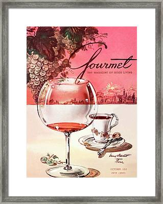 Gourmet Cover Illustration Of A Baccarat Balloon Framed Print