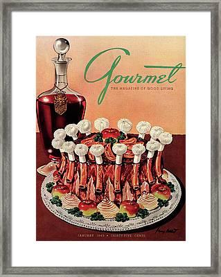 Gourmet Cover Illustration Of A Crown Roast Framed Print