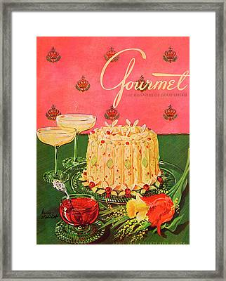 Gourmet Cover Illustration Of A Molded Rice Framed Print by Henry Stahlhut