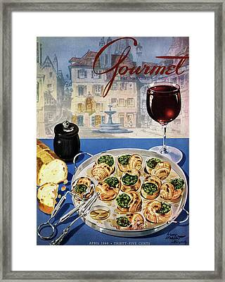 Gourmet Cover Illustration Of A Platter Framed Print by Henry Stahlhut