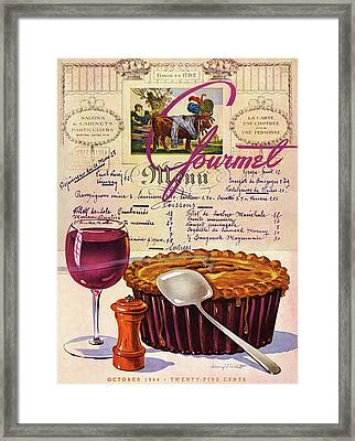 Gourmet Cover Illustration Of Deep Dish Pie Framed Print by Henry Stahlhut
