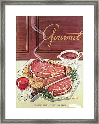 Gourmet Cover Of A Roast Beef Framed Print