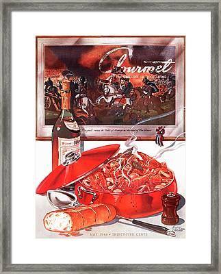 Gourmet Cover Of Coq-au-vin Framed Print by Henry Stahlhut