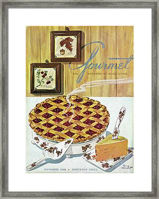Gourmet Cover Of Cranberry Pie Framed Print