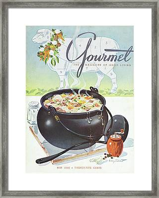Gourmet Cover Of Lamb Stew Framed Print by Henry Stahlhut