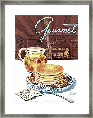 Gourmet Cover Of Pancakes Framed Print by Henry Stahlhut