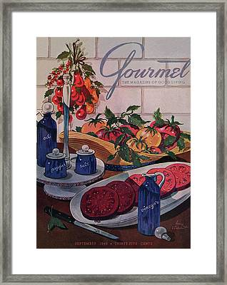 Gourmet Cover Of Tomatoes And Seasoning Framed Print