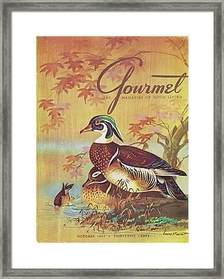 Gourmet Cover Of Wood Ducks Framed Print